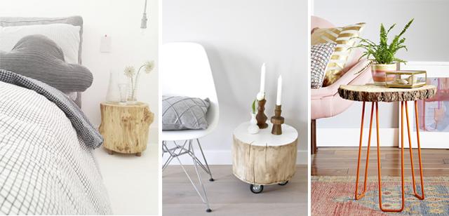 Como decorar con troncos de madera como te quedas - Tronco madera decoracion ...