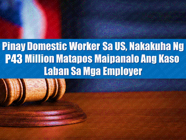 "Although the court went in favor of the overseas Filipino worker (OFW) who was overworked and underpaid, her former employer has decided to file an appeal, which Alzate and Sayas' firm is ready to fight.  The couple has since reportedly hired three people to take shifts, doing what Alzate did all by herself.  While Alzate was not paid based on the minimum wage, these new workers are reportedly receiving minimum wage, together amounting to what should've been paid to Alzate while she was working.  ""The trial court's judgment in favor of our nanny client is based on good facts and good law.  Make no mistake about it,"" said Sayas.  ""We will vigorously fight for the worker on appeal.""  Before Alzate's case, Atty. Sayas recovered $500,000 for two domestic employees and $425,000 for a security guard.  Advertisement           Sponsored Links       Linda Alzate (not real name), a domestic worker in the US who cared for her then employers' children on top of doing errands, cleaning the house and cooking, won a wage claim amounting to $827,000 (Php 43,299,652 approx.).  This amount is deemed the highest pure wage claim awarded to a domestic worker.  ""The court's judgment is a victory for Ms. Alzate, especially in the face of a vigorous opposition that did not concede any dime of wages that was owed to her,"" said the law firm which represented the Filipina on trial in a press release.  ""It was a testament to the courage of this Filipina to have pursued her claims all the way up to the trial,"" the law firm stated.  Alzate filed the case and sought to receive what was owed to her by her employers in salary. At that time, she was paid a fixed monthly rate regardless of how long she worked. Alzate said she was made to work 18 to 24 hours a day.  The Domestic Workers Bill of Rights states that domestic workers who worked long hours like Alzate and who are employed to take care of children and the elderly should be given overtime pay.Although the court went in favor of the overseas Filipino worker (OFW) who was overworked and underpaid, her former employer has decided to file an appeal, which Alzate and Sayas' firm is ready to fight.  The couple has since reportedly hired three people to take shifts, doing what Alzate did all by herself.  While Alzate was not paid based on the minimum wage, these new workers are reportedly receiving minimum wage, together amounting to what should've been paid to Alzate while she was working.  ""The trial court's judgment in favor of our nanny client is based on good facts and good law.  Make no mistake about it,"" said Sayas.  ""We will vigorously fight for the worker on appeal.""  Before Alzate's case, Atty. Sayas recovered $500,000 for two domestic employees and $425,000 for a security guard.  Advertisement   Although the court went in favor of the overseas Filipino worker (OFW) who was overworked and underpaid, her former employer has decided to file an appeal, which Alzate and Sayas' firm is ready to fight.  The couple has since reportedly hired three people to take shifts, doing what Alzate did all by herself.  While Alzate was not paid based on the minimum wage, these new workers are reportedly receiving minimum wage, together amounting to what should've been paid to Alzate while she was working.  ""The trial court's judgment in favor of our nanny client is based on good facts and good law.  Make no mistake about it,"" said Sayas.  ""We will vigorously fight for the worker on appeal.""  Before Alzate's case, Atty. Sayas recovered $500,000 for two domestic employees and $425,000 for a security guard.  Advertisement        Sponsored Links     Linda Alzate (not real name), a domestic worker in the US who cared for her then employers' children on top of doing errands, cleaning the house and cooking, won a wage claim amounting to $827,000 (Php 43,299,652 approx.).  This amount is deemed the highest pure wage claim awarded to a domestic worker.  ""The court's judgment is a victory for Ms. Alzate, especially in the face of a vigorous opposition that did not concede any dime of wages that was owed to her,"" said the law firm which represented the Filipina on trial in a press release.  ""It was a testament to the courage of this Filipina to have pursued her claims all the way up to the trial,"" the law firm stated.  Alzate filed the case and sought to receive what was owed to her by her employers in salary. At that time, she was paid a fixed monthly rate regardless of how long she worked. Alzate said she was made to work 18 to 24 hours a day.  The Domestic Workers Bill of Rights states that domestic workers who worked long hours like Alzate and who are employed to take care of children and the elderly should be given overtime pay.  Alzate began working for Drs. Peter Sim and Lorraine Diego back in 2002. The Pinay worker took care of the couple's two children who had been diagnosed with autism. Her hourly rate then was a meager $2 which is approximately a hundred pesos today.  Her last salary amounted to $3,000, just half of what she should have gotten based on salary standards during that year.  She was also not given a day off by her former employers. Read More:  Look! Hut Built For NPA Surrenderees  Cash Aid To Be Given To Displaced OFWs From Kuwait—OWWA    Skilled Workers In The UAE Can Now Have Maximum Of Two Part-time Jobs    Former OFW In Dubai Now Earning P25K A Week From Her Business    Top Search Engines In The Philippines For Finding Jobs Abroad    5 Signs A Person Is Going To Be Poor And 5 Signs You Are Going To Be Rich    Tips On How To Handle Money For OFWs And Their Families    How Much Can Filipinos Earn 1-10 Years After Finishing College?   Former Executive Secretary Worked As a Domestic Worker In Hong Kong Due To Inadequate Salary In PH    Beware Of  Fake Online Registration System Which Collects $10 From OFWs— POEA    Is It True, Duterte Might Expand Overseas Workers Deployment Ban To Countries With Many Cases of Abuse?  Do You Agree With The Proposed Filipino Deployment Ban To Abusive Host Countries?    ©2018 THOUGHTSKOTO  www.jbsolis.com     Sponsored Links       Linda Alzate (not real name), a domestic worker in the US who cared for her then employers' children on top of doing errands, cleaning the house and cooking, won a wage claim amounting to $827,000 (Php 43,299,652 approx.).  This amount is deemed the highest pure wage claim awarded to a domestic worker.  ""The court's judgment is a victory for Ms. Alzate, especially in the face of a vigorous opposition that did not concede any dime of wages that was owed to her,"" said the law firm which represented the Filipina on trial in a press release.  ""It was a testament to the courage of this Filipina to have pursued her claims all the way up to the trial,"" the law firm stated.  Alzate filed the case and sought to receive what was owed to her by her employers in salary. At that time, she was paid a fixed monthly rate regardless of how long she worked. Alzate said she was made to work 18 to 24 hours a day.  The Domestic Workers Bill of Rights states that domestic workers who worked long hours like Alzate and who are employed to take care of children and the elderly should be given overtime pay.  Alzate began working for Drs. Peter Sim and Lorraine Diego back in 2002. The Pinay worker took care of the couple's two children who had been diagnosed with autism. Her hourly rate then was a meager $2 which is approximately a hundred pesos today.  Her last salary amounted to $3,000, just half of what she should have gotten based on salary standards during that year.  She was also not given a day off by her former employers. Read More:  Look! Hut Built For NPA Surrenderees  Cash Aid To Be Given To Displaced OFWs From Kuwait—OWWA    Skilled Workers In The UAE Can Now Have Maximum Of Two Part-time Jobs    Former OFW In Dubai Now Earning P25K A Week From Her Business    Top Search Engines In The Philippines For Finding Jobs Abroad    5 Signs A Person Is Going To Be Poor And 5 Signs You Are Going To Be Rich    Tips On How To Handle Money For OFWs And Their Families    How Much Can Filipinos Earn 1-10 Years After Finishing College?   Former Executive Secretary Worked As a Domestic Worker In Hong Kong Due To Inadequate Salary In PH    Beware Of  Fake Online Registration System Which Collects $10 From OFWs— POEA    Is It True, Duterte Might Expand Overseas Workers Deployment Ban To Countries With Many Cases of Abuse?  Do You Agree With The Proposed Filipino Deployment Ban To Abusive Host Countries? Alzate began working for Drs. Peter Sim and Lorraine Diego back in 2002. The Pinay worker took care of the couple's two children who had been diagnosed with autism. Her hourly rate then was a meager $2 which is approximately a hundred pesos today.  Her last salary amounted to $3,000, just half of what she should have gotten based on salary standards during that year.  She was also not given a day off by her former employers.  Although the court went in favor of the overseas Filipino worker (OFW) who was overworked and underpaid, her former employer has decided to file an appeal, which Alzate and Sayas' firm is ready to fight.  The couple has since reportedly hired three people to take shifts, doing what Alzate did all by herself.  While Alzate was not paid based on the minimum wage, these new workers are reportedly receiving minimum wage, together amounting to what should've been paid to Alzate while she was working.  ""The trial court's judgment in favor of our nanny client is based on good facts and good law.  Make no mistake about it,"" said Sayas.  ""We will vigorously fight for the worker on appeal.""  Before Alzate's case, Atty. Sayas recovered $500,000 for two domestic employees and $425,000 for a security guard.  Advertisement   Although the court went in favor of the overseas Filipino worker (OFW) who was overworked and underpaid, her former employer has decided to file an appeal, which Alzate and Sayas' firm is ready to fight.  The couple has since reportedly hired three people to take shifts, doing what Alzate did all by herself.  While Alzate was not paid based on the minimum wage, these new workers are reportedly receiving minimum wage, together amounting to what should've been paid to Alzate while she was working.  ""The trial court's judgment in favor of our nanny client is based on good facts and good law.  Make no mistake about it,"" said Sayas.  ""We will vigorously fight for the worker on appeal.""  Before Alzate's case, Atty. Sayas recovered $500,000 for two domestic employees and $425,000 for a security guard.  Advertisement        Sponsored Links     Linda Alzate (not real name), a domestic worker in the US who cared for her then employers' children on top of doing errands, cleaning the house and cooking, won a wage claim amounting to $827,000 (Php 43,299,652 approx.).  This amount is deemed the highest pure wage claim awarded to a domestic worker.  ""The court's judgment is a victory for Ms. Alzate, especially in the face of a vigorous opposition that did not concede any dime of wages that was owed to her,"" said the law firm which represented the Filipina on trial in a press release.  ""It was a testament to the courage of this Filipina to have pursued her claims all the way up to the trial,"" the law firm stated.  Alzate filed the case and sought to receive what was owed to her by her employers in salary. At that time, she was paid a fixed monthly rate regardless of how long she worked. Alzate said she was made to work 18 to 24 hours a day.  The Domestic Workers Bill of Rights states that domestic workers who worked long hours like Alzate and who are employed to take care of children and the elderly should be given overtime pay.  Alzate began working for Drs. Peter Sim and Lorraine Diego back in 2002. The Pinay worker took care of the couple's two children who had been diagnosed with autism. Her hourly rate then was a meager $2 which is approximately a hundred pesos today.  Her last salary amounted to $3,000, just half of what she should have gotten based on salary standards during that year.  She was also not given a day off by her former employers. Read More:  Look! Hut Built For NPA Surrenderees  Cash Aid To Be Given To Displaced OFWs From Kuwait—OWWA    Skilled Workers In The UAE Can Now Have Maximum Of Two Part-time Jobs    Former OFW In Dubai Now Earning P25K A Week From Her Business    Top Search Engines In The Philippines For Finding Jobs Abroad    5 Signs A Person Is Going To Be Poor And 5 Signs You Are Going To Be Rich    Tips On How To Handle Money For OFWs And Their Families    How Much Can Filipinos Earn 1-10 Years After Finishing College?   Former Executive Secretary Worked As a Domestic Worker In Hong Kong Due To Inadequate Salary In PH    Beware Of  Fake Online Registration System Which Collects $10 From OFWs— POEA    Is It True, Duterte Might Expand Overseas Workers Deployment Ban To Countries With Many Cases of Abuse?  Do You Agree With The Proposed Filipino Deployment Ban To Abusive Host Countries?    ©2018 THOUGHTSKOTO  www.jbsolis.com     Sponsored Links       Linda Alzate (not real name), a domestic worker in the US who cared for her then employers' children on top of doing errands, cleaning the house and cooking, won a wage claim amounting to $827,000 (Php 43,299,652 approx.).  This amount is deemed the highest pure wage claim awarded to a domestic worker.  ""The court's judgment is a victory for Ms. Alzate, especially in the face of a vigorous opposition that did not concede any dime of wages that was owed to her,"" said the law firm which represented the Filipina on trial in a press release.  ""It was a testament to the courage of this Filipina to have pursued her claims all the way up to the trial,"" the law firm stated.  Alzate filed the case and sought to receive what was owed to her by her employers in salary. At that time, she was paid a fixed monthly rate regardless of how long she worked. Alzate said she was made to work 18 to 24 hours a day.  The Domestic Workers Bill of Rights states that domestic workers who worked long hours like Alzate and who are employed to take care of children and the elderly should be given overtime pay. Although the court went in favor of the overseas Filipino worker (OFW) who was overworked and underpaid, her former employer has decided to file an appeal, which Alzate and Sayas' firm is ready to fight.  The couple has since reportedly hired three people to take shifts, doing what Alzate did all by herself.  While Alzate was not paid based on the minimum wage, these new workers are reportedly receiving minimum wage, together amounting to what should've been paid to Alzate while she was working.  ""The trial court's judgment in favor of our nanny client is based on good facts and good law.  Make no mistake about it,"" said Sayas.  ""We will vigorously fight for the worker on appeal.""  Before Alzate's case, Atty. Sayas recovered $500,000 for two domestic employees and $425,000 for a security guard.  Advertisement   Although the court went in favor of the overseas Filipino worker (OFW) who was overworked and underpaid, her former employer has decided to file an appeal, which Alzate and Sayas' firm is ready to fight.  The couple has since reportedly hired three people to take shifts, doing what Alzate did all by herself.  While Alzate was not paid based on the minimum wage, these new workers are reportedly receiving minimum wage, together amounting to what should've been paid to Alzate while she was working.  ""The trial court's judgment in favor of our nanny client is based on good facts and good law.  Make no mistake about it,"" said Sayas.  ""We will vigorously fight for the worker on appeal.""  Before Alzate's case, Atty. Sayas recovered $500,000 for two domestic employees and $425,000 for a security guard.  Advertisement        Sponsored Links     Linda Alzate (not real name), a domestic worker in the US who cared for her then employers' children on top of doing errands, cleaning the house and cooking, won a wage claim amounting to $827,000 (Php 43,299,652 approx.).  This amount is deemed the highest pure wage claim awarded to a domestic worker.  ""The court's judgment is a victory for Ms. Alzate, especially in the face of a vigorous opposition that did not concede any dime of wages that was owed to her,"" said the law firm which represented the Filipina on trial in a press release.  ""It was a testament to the courage of this Filipina to have pursued her claims all the way up to the trial,"" the law firm stated.  Alzate filed the case and sought to receive what was owed to her by her employers in salary. At that time, she was paid a fixed monthly rate regardless of how long she worked. Alzate said she was made to work 18 to 24 hours a day.  The Domestic Workers Bill of Rights states that domestic workers who worked long hours like Alzate and who are employed to take care of children and the elderly should be given overtime pay.  Alzate began working for Drs. Peter Sim and Lorraine Diego back in 2002. The Pinay worker took care of the couple's two children who had been diagnosed with autism. Her hourly rate then was a meager $2 which is approximately a hundred pesos today.  Her last salary amounted to $3,000, just half of what she should have gotten based on salary standards during that year.  She was also not given a day off by her former employers. Read More:  Look! Hut Built For NPA Surrenderees  Cash Aid To Be Given To Displaced OFWs From Kuwait—OWWA    Skilled Workers In The UAE Can Now Have Maximum Of Two Part-time Jobs    Former OFW In Dubai Now Earning P25K A Week From Her Business    Top Search Engines In The Philippines For Finding Jobs Abroad    5 Signs A Person Is Going To Be Poor And 5 Signs You Are Going To Be Rich    Tips On How To Handle Money For OFWs And Their Families    How Much Can Filipinos Earn 1-10 Years After Finishing College?   Former Executive Secretary Worked As a Domestic Worker In Hong Kong Due To Inadequate Salary In PH    Beware Of  Fake Online Registration System Which Collects $10 From OFWs— POEA    Is It True, Duterte Might Expand Overseas Workers Deployment Ban To Countries With Many Cases of Abuse?  Do You Agree With The Proposed Filipino Deployment Ban To Abusive Host Countries?    ©2018 THOUGHTSKOTO  www.jbsolis.com     Sponsored Links       Linda Alzate (not real name), a domestic worker in the US who cared for her then employers' children on top of doing errands, cleaning the house and cooking, won a wage claim amounting to $827,000 (Php 43,299,652 approx.).  This amount is deemed the highest pure wage claim awarded to a domestic worker.  ""The court's judgment is a victory for Ms. Alzate, especially in the face of a vigorous opposition that did not concede any dime of wages that was owed to her,"" said the law firm which represented the Filipina on trial in a press release.  ""It was a testament to the courage of this Filipina to have pursued her claims all the way up to the trial,"" the law firm stated.  Alzate filed the case and sought to receive what was owed to her by her employers in salary. At that time, she was paid a fixed monthly rate regardless of how long she worked. Alzate said she was made to work 18 to 24 hours a day.  The Domestic Workers Bill of Rights states that domestic workers who worked long hours like Alzate and who are employed to take care of children and the elderly should be given overtime pay.  Alzate began working for Drs. Peter Sim and Lorraine Diego back in 2002. The Pinay worker took care of the couple's two children who had been diagnosed with autism. Her hourly rate then was a meager $2 which is approximately a hundred pesos today.  Her last salary amounted to $3,000, just half of what she should have gotten based on salary standards during that year.  She was also not given a day off by her former employers. Read More:  Look! Hut Built For NPA Surrenderees  Cash Aid To Be Given To Displaced OFWs From Kuwait—OWWA    Skilled Workers In The UAE Can Now Have Maximum Of Two Part-time Jobs    Former OFW In Dubai Now Earning P25K A Week From Her Business    Top Search Engines In The Philippines For Finding Jobs Abroad    5 Signs A Person Is Going To Be Poor And 5 Signs You Are Going To Be Rich    Tips On How To Handle Money For OFWs And Their Families    How Much Can Filipinos Earn 1-10 Years After Finishing College?   Former Executive Secretary Worked As a Domestic Worker In Hong Kong Due To Inadequate Salary In PH    Beware Of  Fake Online Registration System Which Collects $10 From OFWs— POEA    Is It True, Duterte Might Expand Overseas Workers Deployment Ban To Countries With Many Cases of Abuse?  Do You Agree With The Proposed Filipino Deployment Ban To Abusive Host Countries? Alzate began working for Drs. Peter Sim and Lorraine Diego back in 2002. The Pinay worker took care of the couple's two children who had been diagnosed with autism. Her hourly rate then was a meager $2 which is approximately a hundred pesos today.  Her last salary amounted to $3,000, just half of what she should have gotten based on salary standards during that year.  She was also not given a day off by her former employers.    Read More:  Look! Hut Built For NPA Surrenderees  Cash Aid To Be Given To Displaced OFWs From Kuwait—OWWA    Skilled Workers In The UAE Can Now Have Maximum Of Two Part-time Jobs    Former OFW In Dubai Now Earning P25K A Week From Her Business    Top Search Engines In The Philippines For Finding Jobs Abroad    5 Signs A Person Is Going To Be Poor And 5 Signs You Are Going To Be Rich    Tips On How To Handle Money For OFWs And Their Families    How Much Can Filipinos Earn 1-10 Years After Finishing College?   Former Executive Secretary Worked As a Domestic Worker In Hong Kong Due To Inadequate Salary In PH    Beware Of  Fake Online Registration System Which Collects $10 From OFWs— POEA    Is It True, Duterte Might Expand Overseas Workers Deployment Ban To Countries With Many Cases of Abuse?  Do You Agree With The Proposed Filipino Deployment Ban To Abusive Host Countries?    Read More:  Look! Hut Built For NPA Surrenderees  Cash Aid To Be Given To Displaced OFWs From Kuwait—OWWA    Skilled Workers In The UAE Can Now Have Maximum Of Two Part-time Jobs    Former OFW In Dubai Now Earning P25K A Week From Her Business    Top Search Engines In The Philippines For Finding Jobs Abroad    5 Signs A Person Is Going To Be Poor And 5 Signs You Are Going To Be Rich    Tips On How To Handle Money For OFWs And Their Families    How Much Can Filipinos Earn 1-10 Years After Finishing College?   Former Executive Secretary Worked As a Domestic Worker In Hong Kong Due To Inadequate Salary In PH    Beware Of  Fake Online Registration System Which Collects $10 From OFWs— POEA    Is It True, Duterte Might Expand Overseas Workers Deployment Ban To Countries With Many Cases of Abuse?  Do You Agree With The Proposed Filipino Deployment Ban To Abusive Host Countries?"