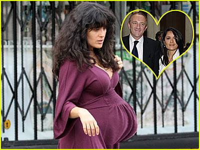 salma hayek pregnant