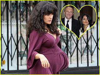 salma hayek pregnant photos