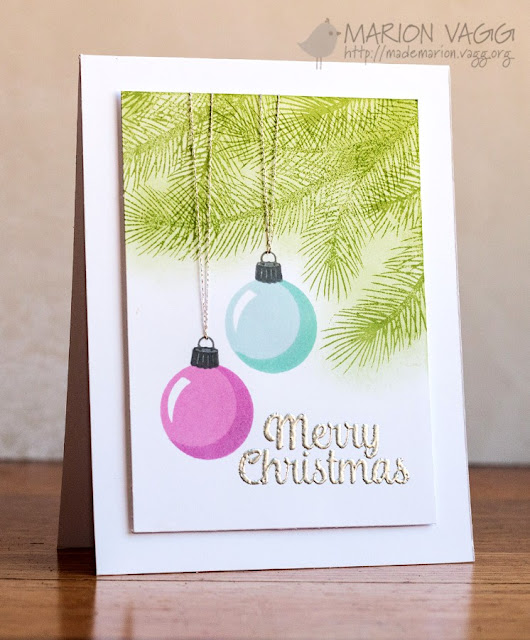 Sunny Studio Stamps: Merry Sentiments & Holiday Style Christmas Card by Marion Vagg.