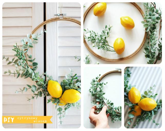 DIY – cytrynowy wianek