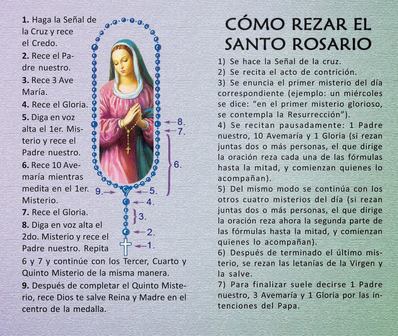 Rezar El Rosario En Espanol