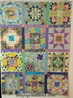 secret garden quilt top with sashing