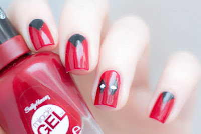Deadpool Nailart