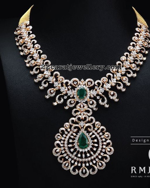 Diamond Necklace by RM Jewellers