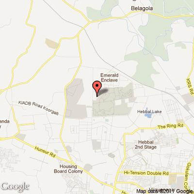 Infosys Mysore Location Map