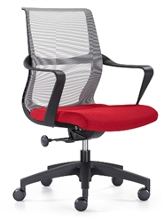 Modern Office Chair with Red Seat