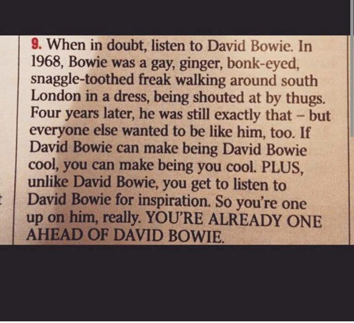 Better than Bowie