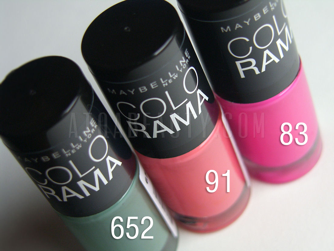 Maybelline, Colorama, 652 & 91 & 83