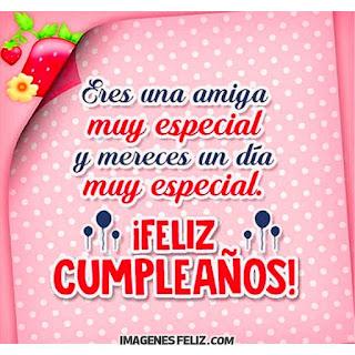 Feliz Cumpleaños Amiguita especial