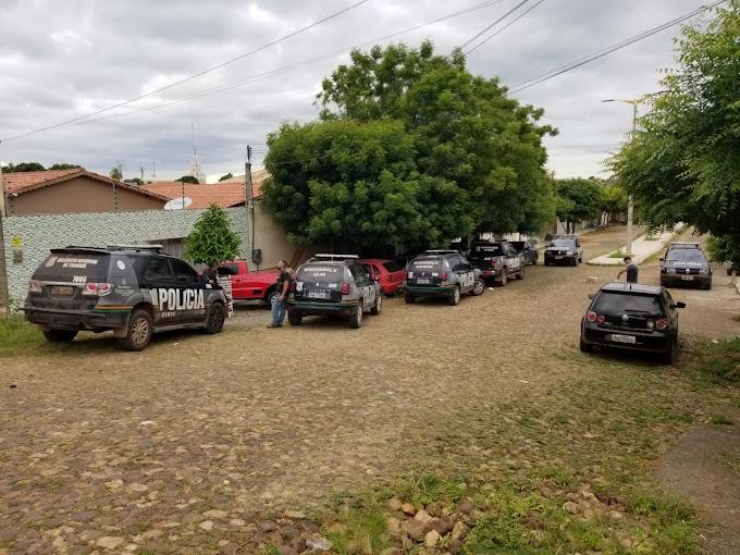 OITO PESSOAS PRESAS POR CRIME DE TRÁFICO DE DROGAS EM MEGA OPERAÇÃO POLICIAL NA CIDADE DO IPU