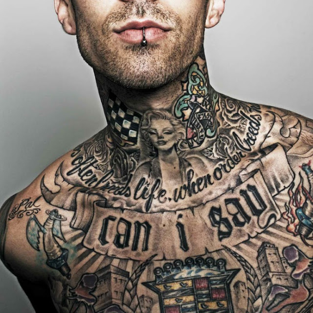 Travis Barker hollywood male celebrity tattoos