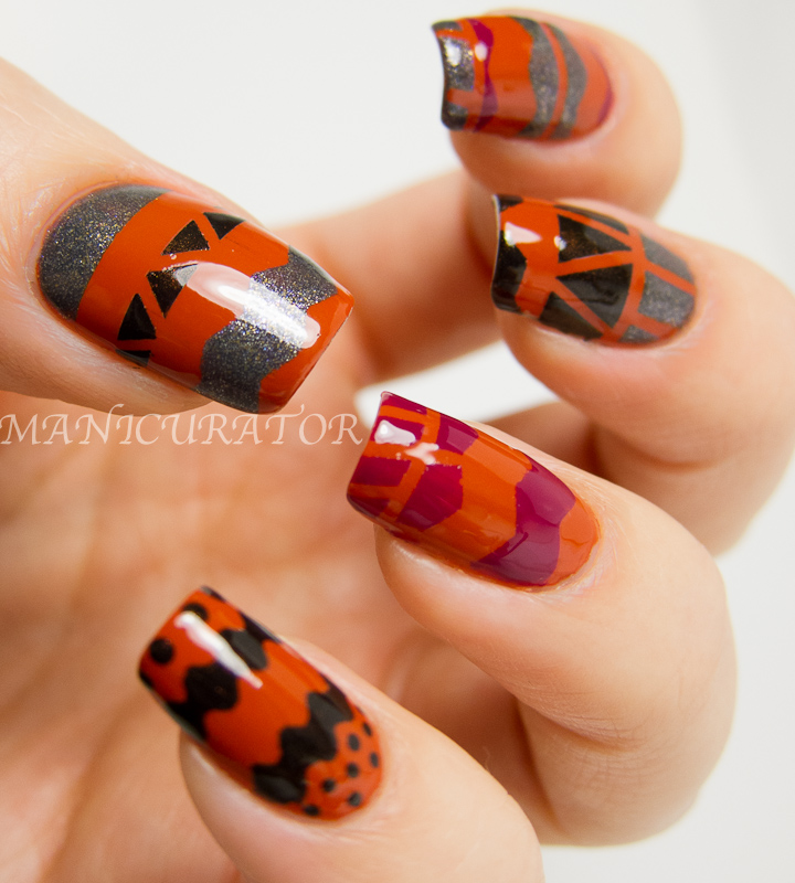 Tribal Nail Art: Tribal Nail Art With Sparitual