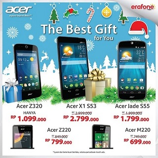 Harga Akhir Tahun Smartphone Acer di Erafone - The Best Gift for You