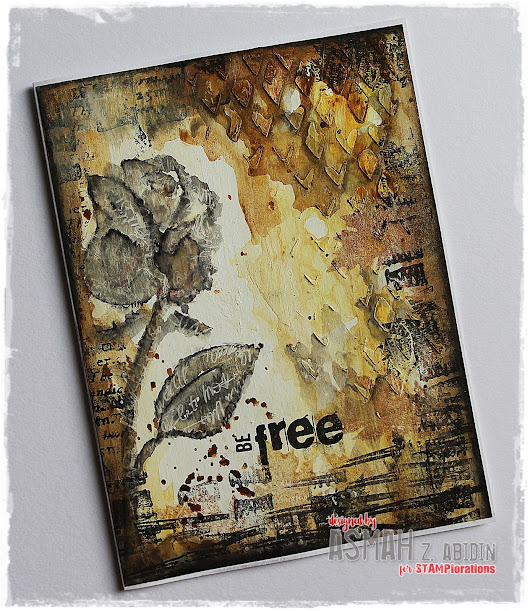 One Layer Mixed Media Card ~ Tutorial @ STAMPlorations