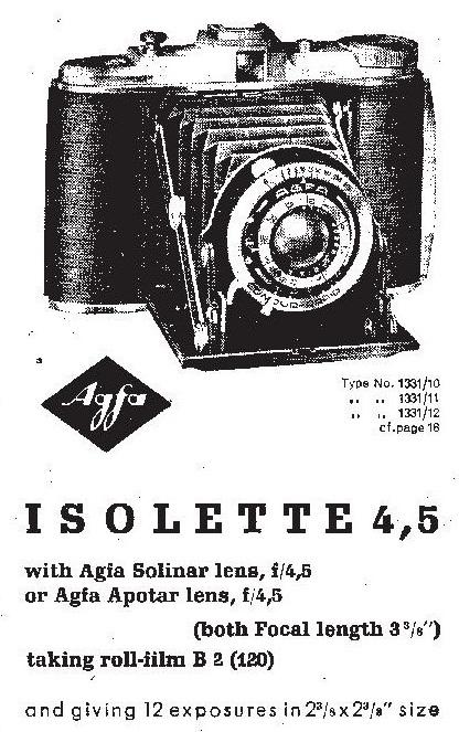 Classic cameras: #23 Agfa Isolette 4,5