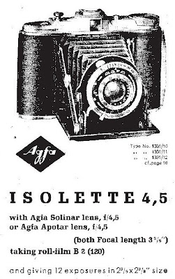 Classic cameras: #23 Agfa Isolette 4,5