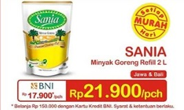 Promosi Minyak Sania 2 Liter