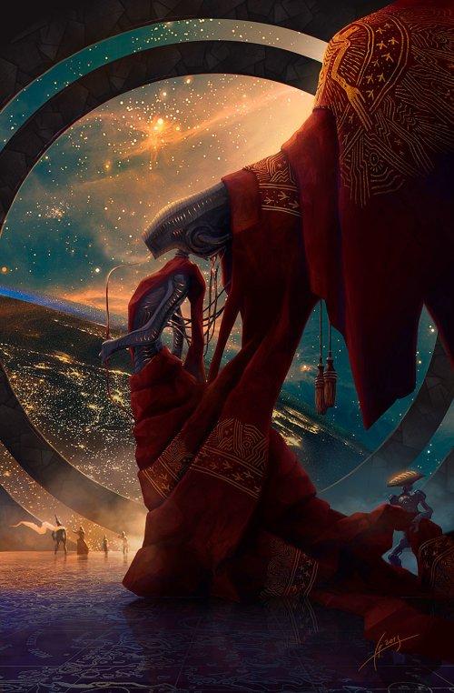Alexey Egorov artstation arte ilustrações sombria fantasia ficção científica