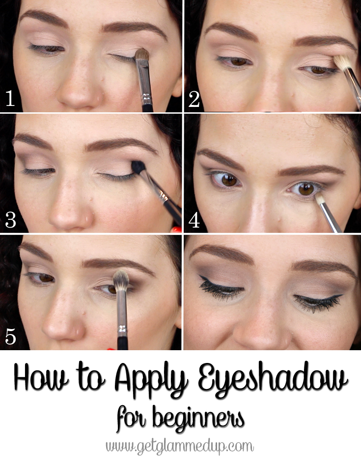 VIDEO How To Apply Eyeshadow For Beginners GetGlammedUp - Eyeshadow template