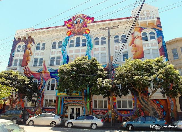 San Francisco väggmålningar