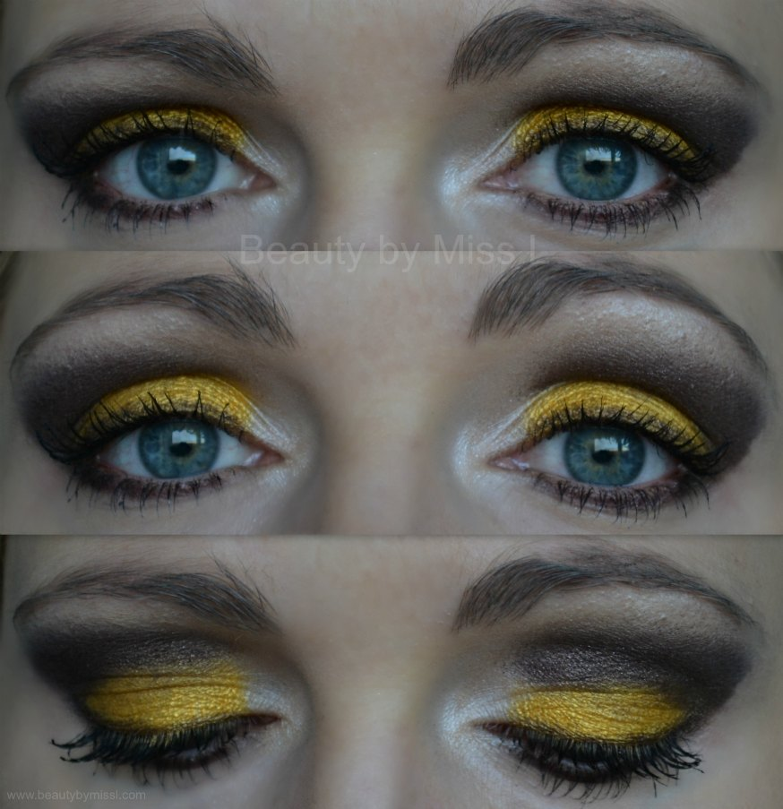 yellow brown eye makeup, eotd, eyes of the day