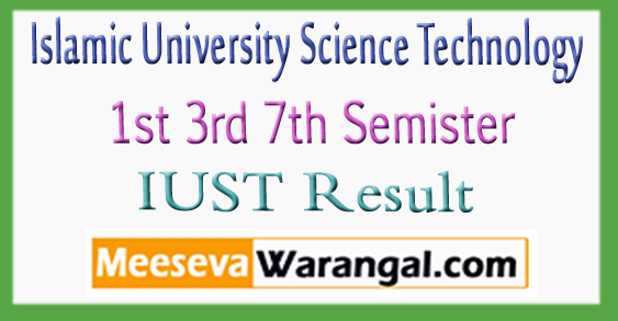 Islamic University Science Technology 1st 3rd 7th Semister Result 2018