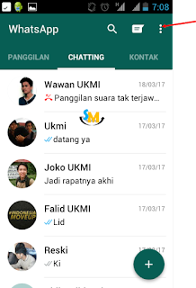 Tampilan Menu Chatting