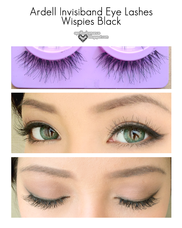 April Fool Romance Review Ardell Invisiband Eye Lashes