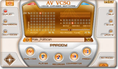AV Voice Changer Software GOLD Main Panel
