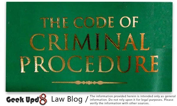 The Code of Criminal Procedure, CrPC 1973, India
