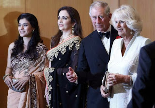 Ajay, Nita Ambani & Kajol with Prince Charles & Camilla at British Asian Trust