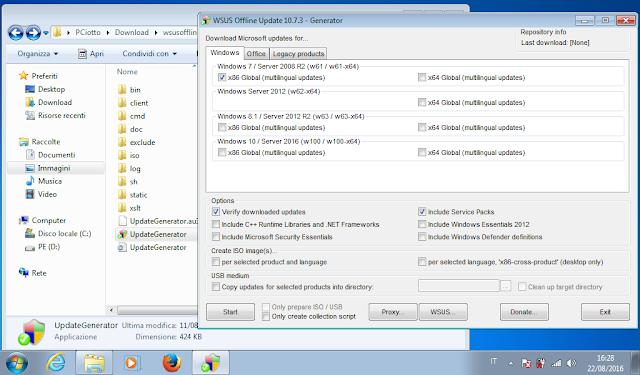 wsus offline update update generator