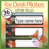Fox Desk Plates