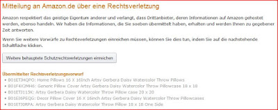 Report Intellectual Property Right Infringement on Amazon Germany