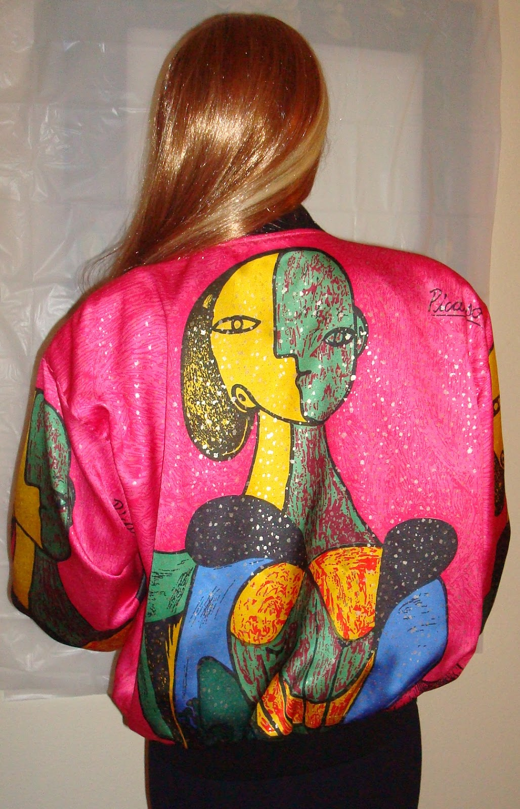 Vasilia's Vintage: Vtg 80s UGLY Neon Picasso Jacket - M-XL