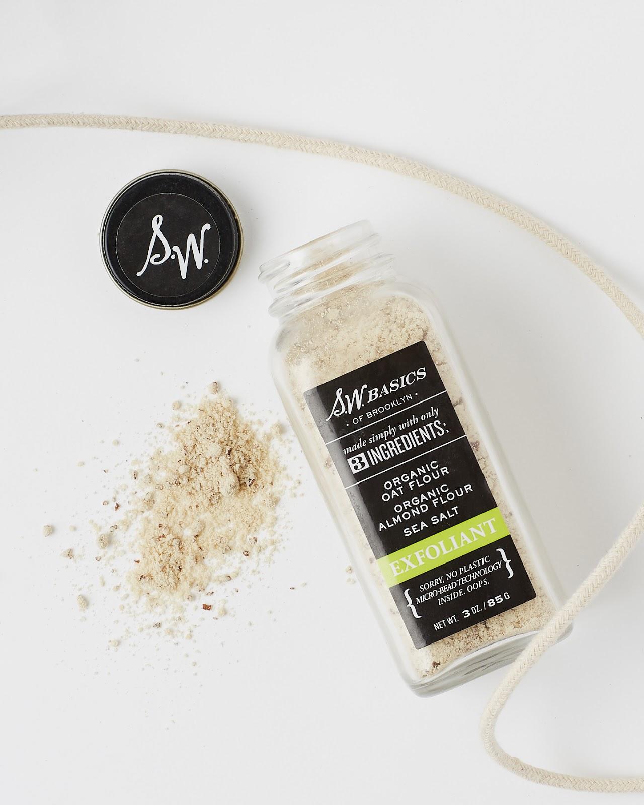 S.W. Basics Exfoliant Review organic skincare oat almond flour hellolindasau
