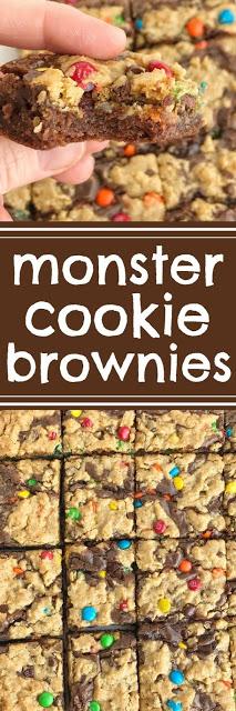 Easy Monster Cookie Brownies