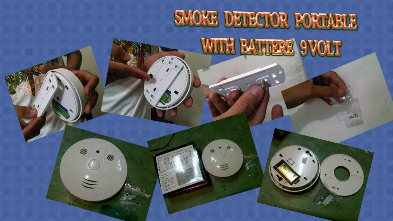 Cara Pengoperasian Smoke Detector Portable Battere