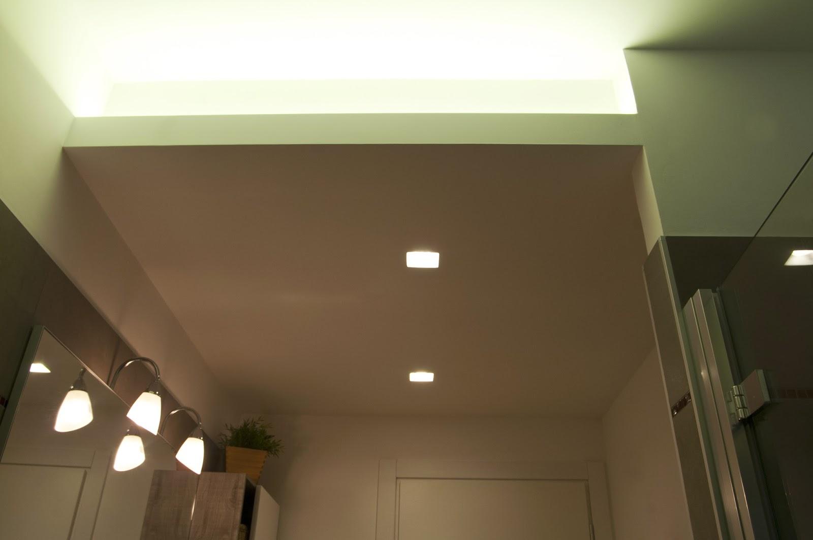 Illuminazione led casa illuminazione a torino ristrutturando un appartamento - Illuminazione bagno led ...
