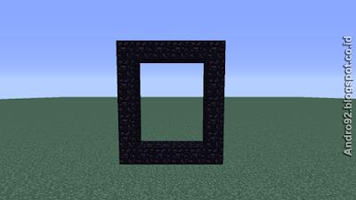 Cara membuat portal ke neraka/Nether Minecraft