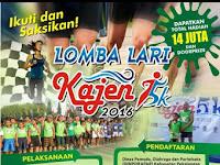 Lomba lari 5K Kajen Kabupaten Pekalongan 2016