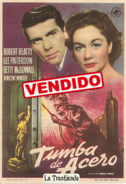 Programa de Cine - Tumba de Acero - Robert Beatty - Lee Patterson