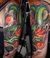 tatuaje dragon y esferas