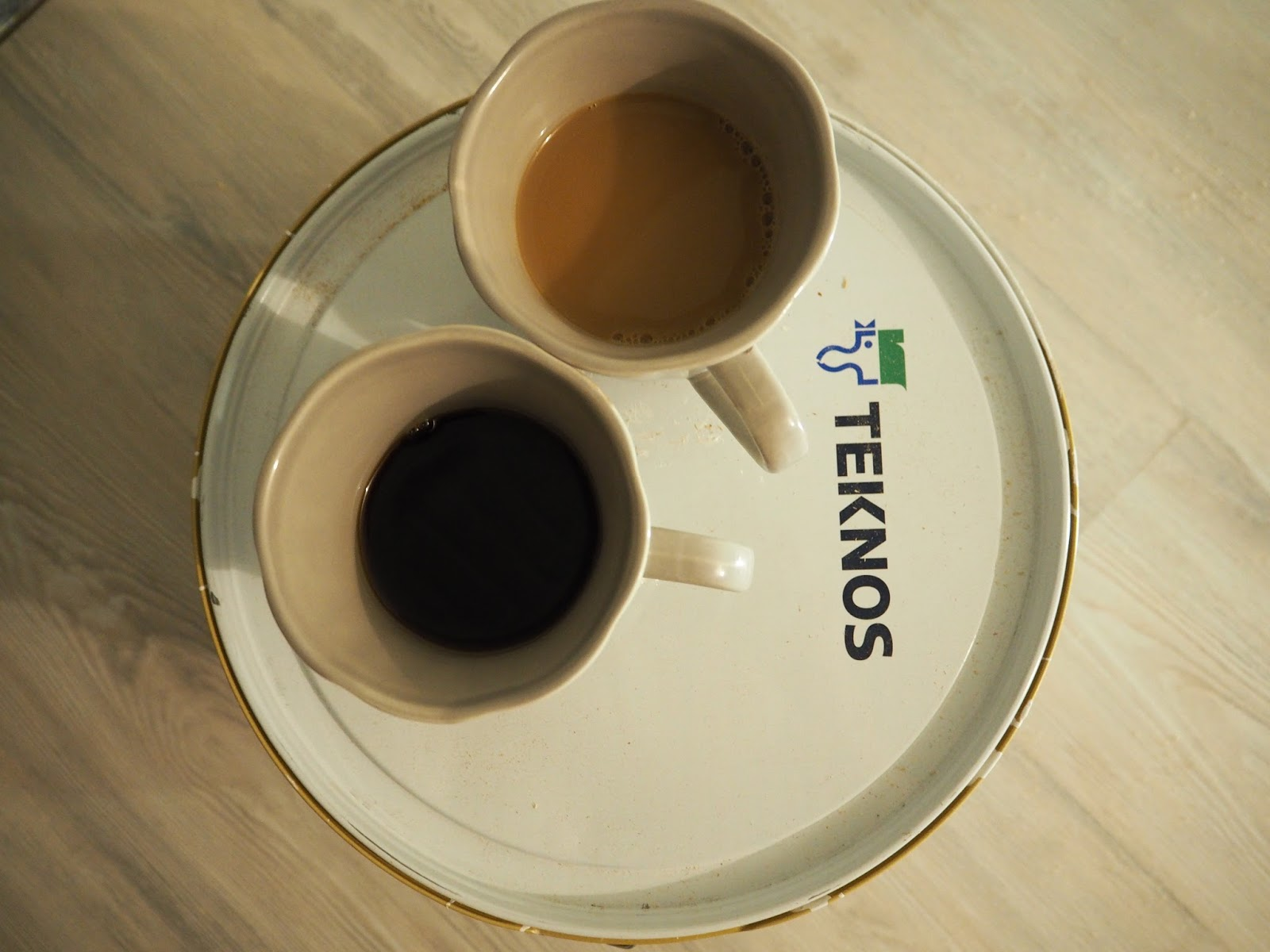teknos maalit ja kahvitauko