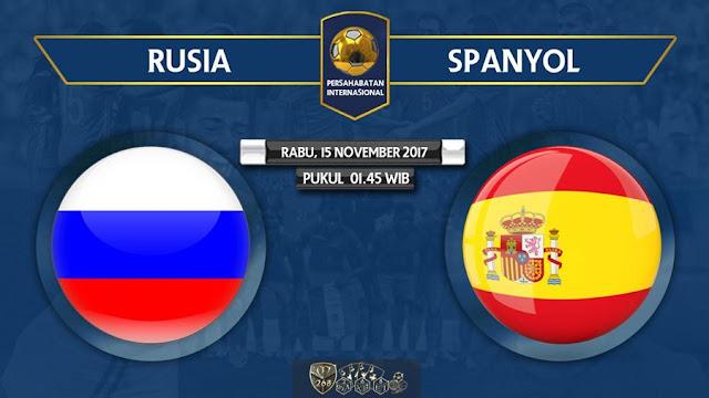 Prediksi Bola : Russia Vs Spain , Rabu 15 November 2017 Pukul 01.45 WIB