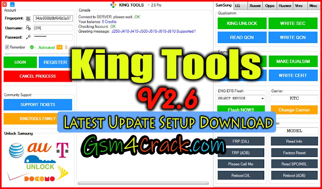 King Tools V2.6 Latest Update Free Download