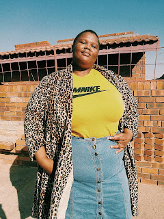 South african plus size blogger, plus size blogger style, plus size leopard print coat, south african streetwear brand