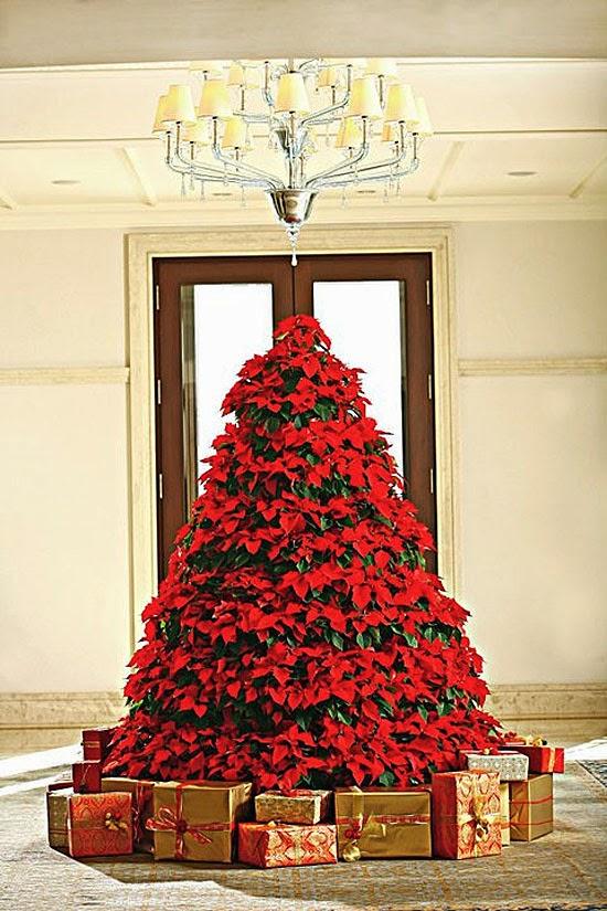 árvore de natal romântica